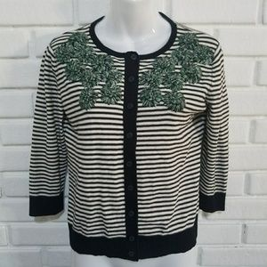 Anthropologie Tabitha Embroidered Cardigan M